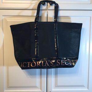 Victoria's Secret Black Mesh Tote NWOT